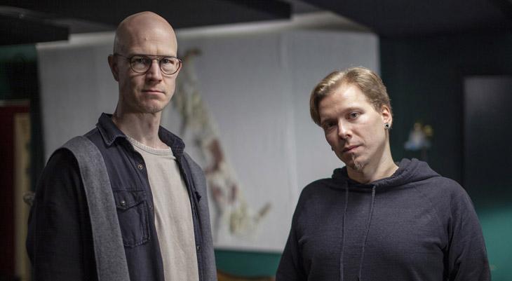 Säveltäjä Max Lilja ja tuottaja Anttoni Palm (oik.)