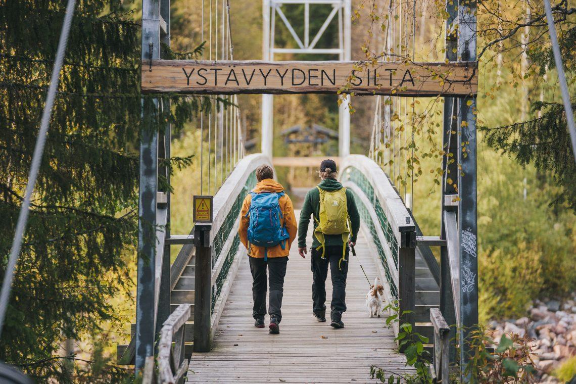 Ystävyyden silta Napapiirin retkeilyalueela