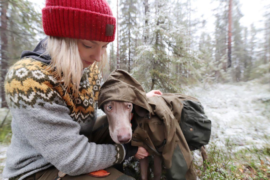 Marjo ja koira Pablo