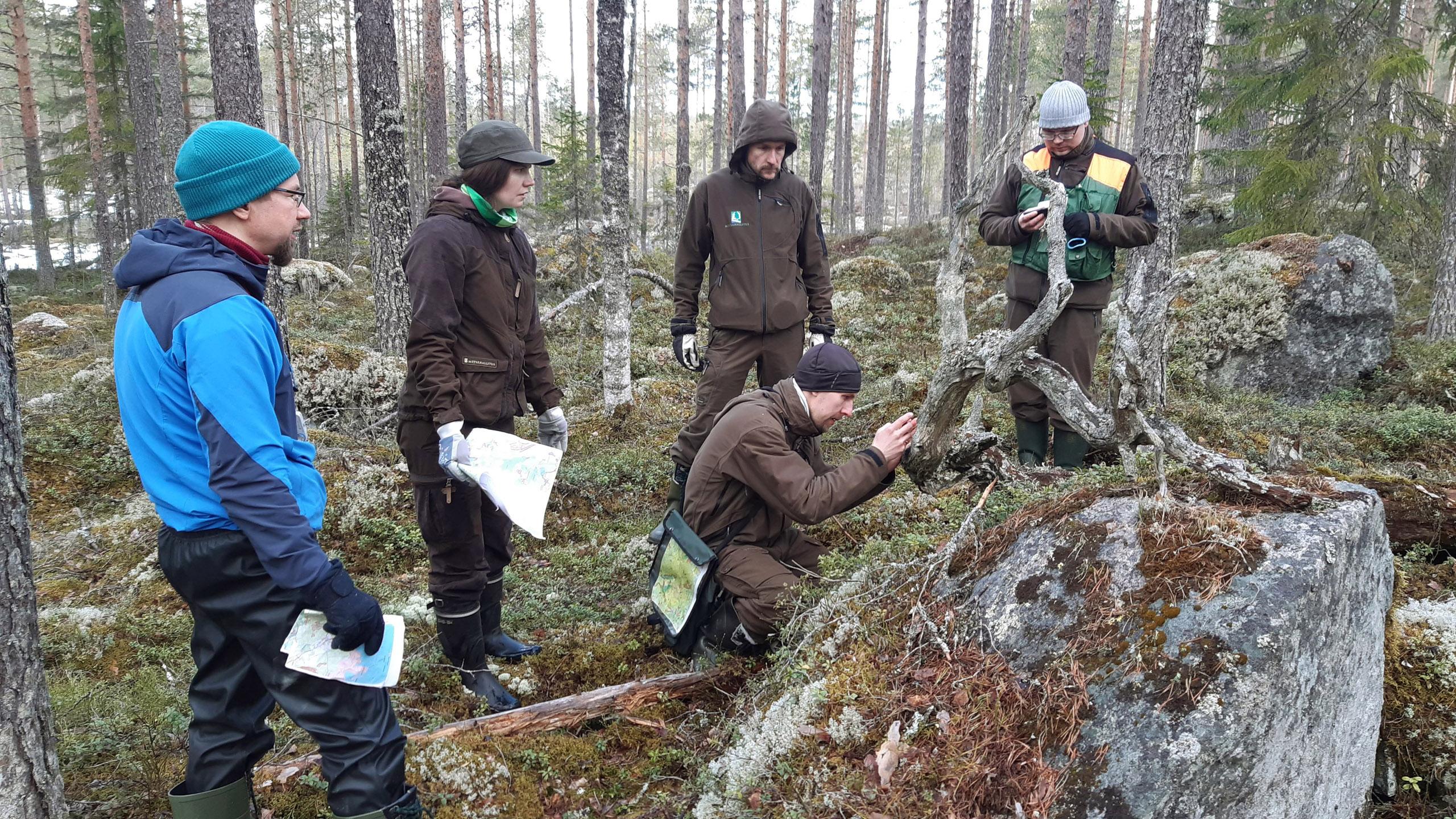 Koulutustapahtuma metsässä
